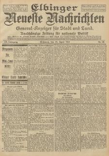 Elbinger Neueste Nachrichten, Nr. 95 Mittwoch 24 April 1912 64. Jahrgang