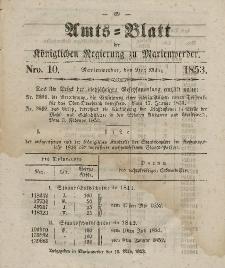 Amts-Blatt der Königl. Regierung zu Marienwerder, 9. März 1853, No. 10.