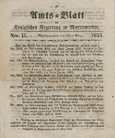 Amts-Blatt der Königl. Regierung zu Marienwerder, 16. März 1853, No. 11.