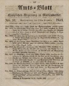 Amts-Blatt der Königl. Regierung zu Marienwerder, 21. Dezember 1853, No. 51.