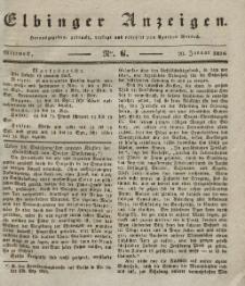Elbinger Anzeigen, Nr. 6. Mittwoch, 20. Januar 1836