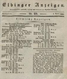 Elbinger Anzeigen, Nr. 29. Sonnabend, 9. April 1836