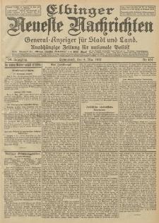 Elbinger Neueste Nachrichten, Nr. 104 Sonnabend 4 Mai 1912 64. Jahrgang