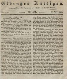 Elbinger Anzeigen, Nr. 32. Mittwoch, 20. April 1836