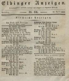 Elbinger Anzeigen, Nr. 34. Dienstag, 26. April 1836