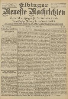 Elbinger Neueste Nachrichten, Nr. 105 Sonntag 5 Mai 1912 64. Jahrgang