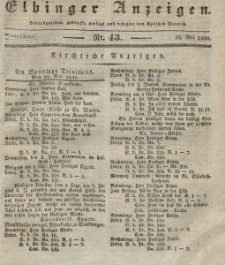 Elbinger Anzeigen, Nr. 43. Sonnabend, 28. Mai 1836