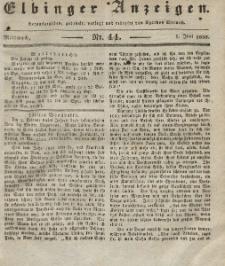 Elbinger Anzeigen, Nr. 44. Mittwoch, 1. Juni 1836