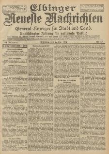 Elbinger Neueste Nachrichten, Nr. 106 Dienstag 7 Mai 1912 64. Jahrgang