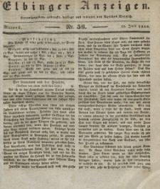 Elbinger Anzeigen, Nr. 56. Mittwoch, 13. Juli 1836