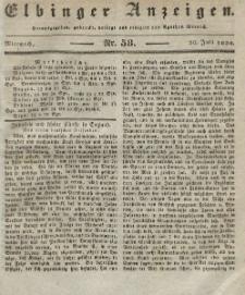 Elbinger Anzeigen, Nr. 58. Mittwoch, 20. Juli 1836