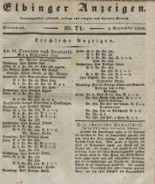 Elbinger Anzeigen, Nr. 71. Sonnabend, 3. September 1836