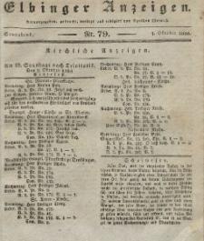Elbinger Anzeigen, Nr. 79. Sonnabend, 1. Oktober 1836
