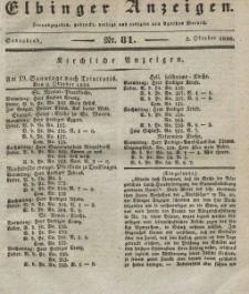 Elbinger Anzeigen, Nr. 81. Sonnabend, 8. Oktober 1836