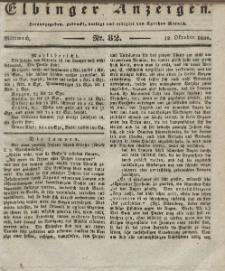 Elbinger Anzeigen, Nr. 82. Mittwoch, 12. Oktober 1836