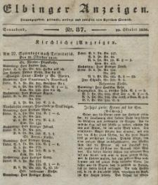Elbinger Anzeigen, Nr. 87. Sonnabend, 29. Oktober 1836