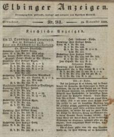 Elbinger Anzeigen, Nr. 93. Sonnabend, 19. November 1836