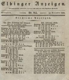 Elbinger Anzeigen, Nr. 95. Sonnabend, 26. November 1836