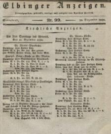 Elbinger Anzeigen, Nr. 99. Sonnabend, 10. Dezember 1836