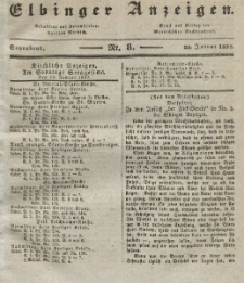 Elbinger Anzeigen, Nr. 8. Sonnabend, 28. Januar 1837