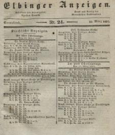 Elbinger Anzeigen, Nr. 24. Sonnabend, 25. März 1837
