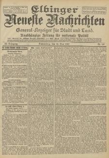 Elbinger Neueste Nachrichten, Nr. 114 Donnerstag 16 Mai 1912 64. Jahrgang