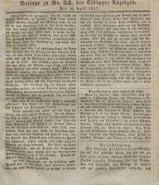 Elbinger Anzeigen, Nr. 33. Mittwoch, 26. April 1837