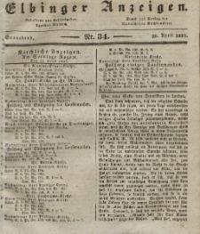 Elbinger Anzeigen, Nr. 34. Sonnabend, 29. April 1837