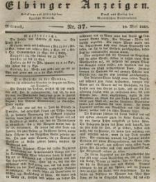 Elbinger Anzeigen, Nr. 37. Mittwoch, 10. Mai 1837