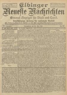 Elbinger Neueste Nachrichten, Nr. 115 Sonnabend 18 Mai 1912 64. Jahrgang
