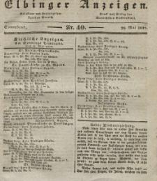 Elbinger Anzeigen, Nr. 40. Sonnabend, 20. Mai 1837