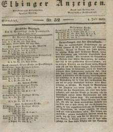 Elbinger Anzeigen, Nr. 52. Sonnabend, 1. Juli 1837