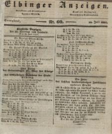 Elbinger Anzeigen, Nr. 60. Sonnabend, 29. Juli 1837