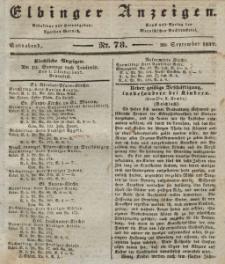 Elbinger Anzeigen, Nr. 78. Sonnabend, 30. September 1837