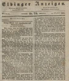 Elbinger Anzeigen, Nr. 79. Mittwoch, 4. Oktober 1837