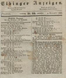 Elbinger Anzeigen, Nr. 88. Sonnabend, 4. November 1837