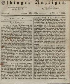 Elbinger Anzeigen, Nr. 89. Mittwoch, 8. November 1837
