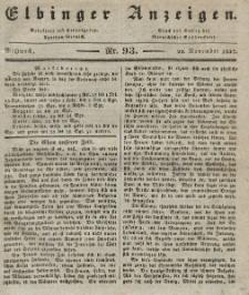 Elbinger Anzeigen, Nr. 93. Mittwoch, 22. November 1837
