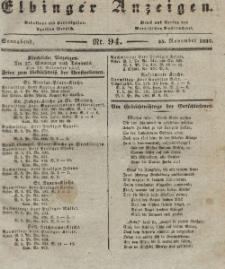 Elbinger Anzeigen, Nr. 94. Sonnabend, 25. November 1837