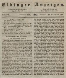 Elbinger Anzeigen, Nr. 103. Mittwoch, 27. Dezember 1837