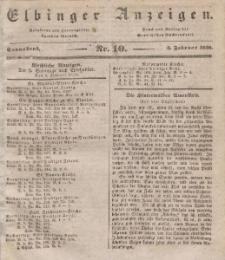 Elbinger Anzeigen, Nr. 10. Sonnabend, 3. Februar 1838