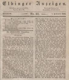 Elbinger Anzeigen, Nr. 11. Mittwoch, 7. Februar 1838