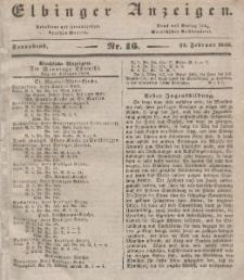 Elbinger Anzeigen, Nr. 16. Sonnabend, 24. Februar 1838