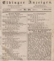 Elbinger Anzeigen, Nr. 18. Sonnabend, 3. März 1838