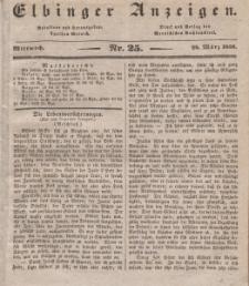 Elbinger Anzeigen, Nr. 25. Mittwoch, 28. März 1838