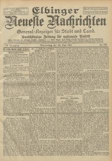 Elbinger Neueste Nachrichten, Nr. 124 Donnerstag 30 Mai 1912 64. Jahrgang