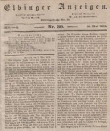Elbinger Anzeigen, Nr. 39. Mittwoch, 16. Mai 1838