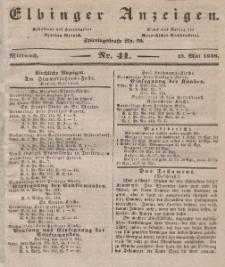 Elbinger Anzeigen, Nr. 41. Mittwoch, 23. Mai 1838