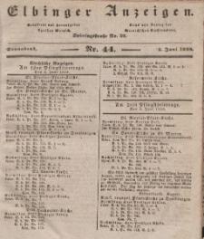 Elbinger Anzeigen, Nr. 44. Sonnabend, 2. Juni 1838