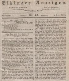 Elbinger Anzeigen, Nr. 45. Mittwoch, 6. Juni 1838